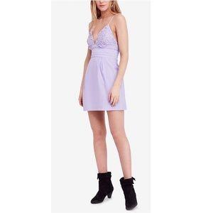 Free People We Go Together Mini Dress Lilac Zeffer